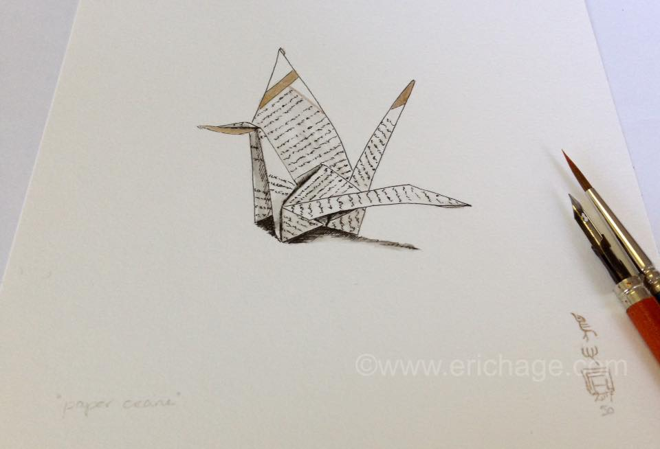 nr 50 from 1000 Crane Drawings for Peace