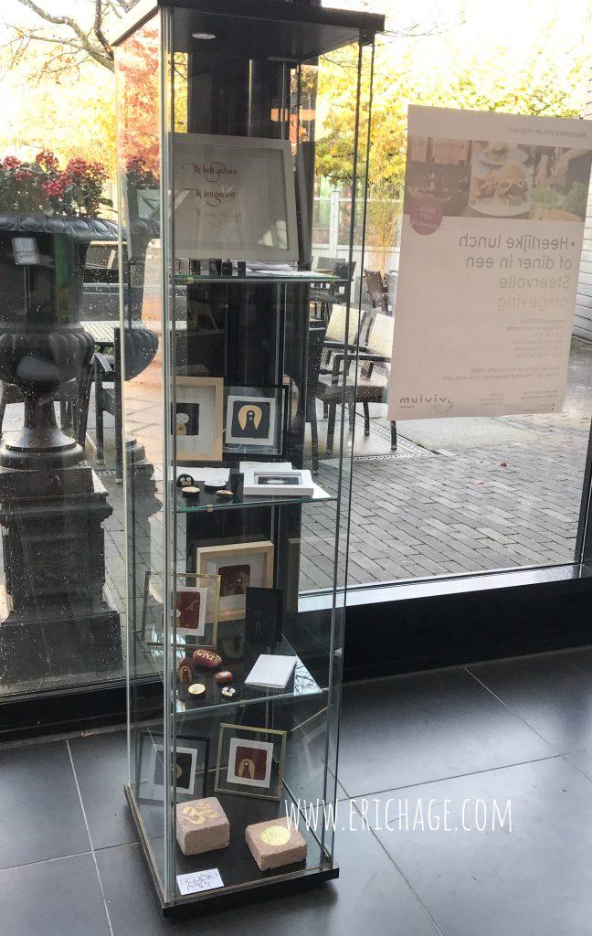 Vitrine expositie Zorgcentrum Hogeweyk