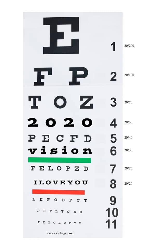 2020 Vision I Love You
