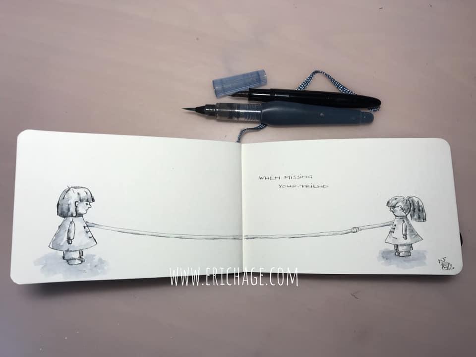 Woord van de dag 'When Missing your friend'