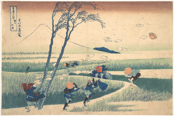 Hokusai - a gust of wind