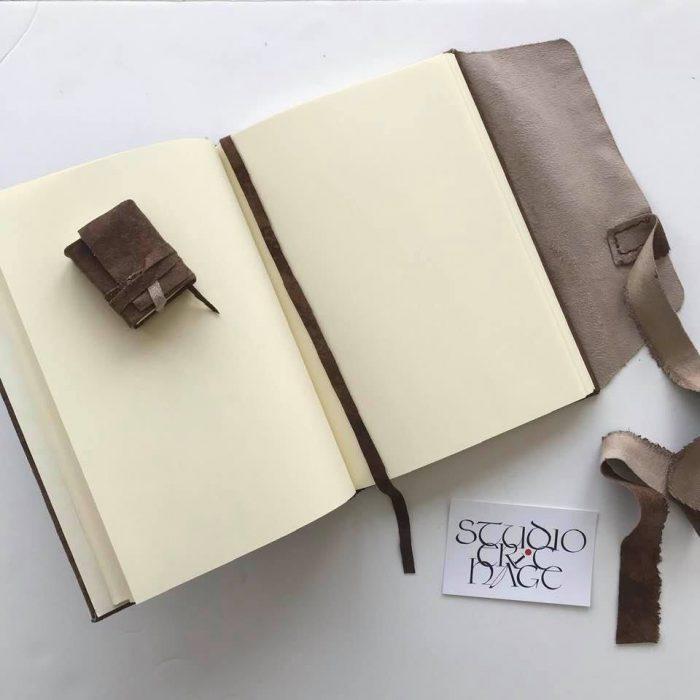 Leren notitieboekje 9x13cm, leren miniboekje 4,5x6cm,  2021